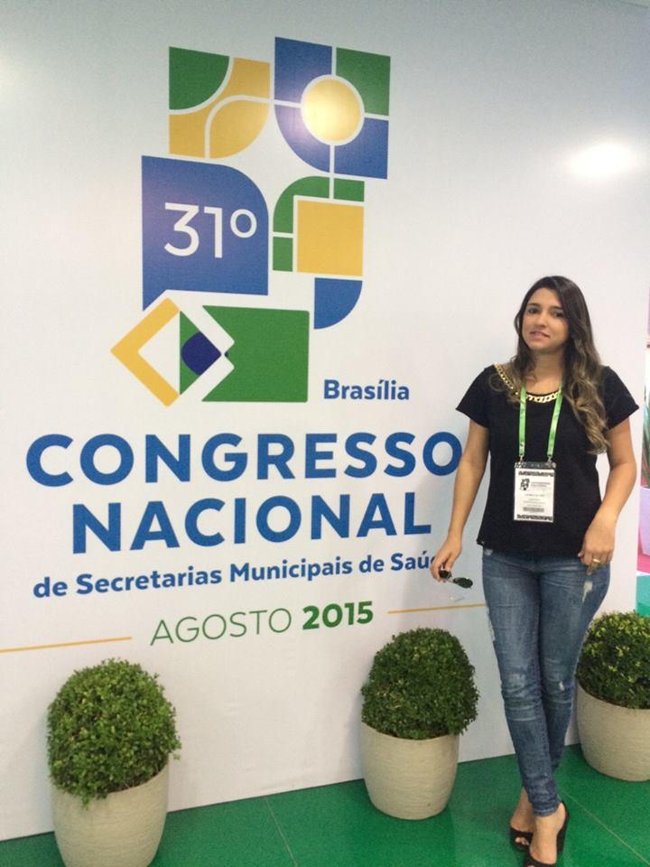 Secretária de saúde de Ouro Velho participa de Congresso Nacional de Secretarias de Saúde em Brasília
