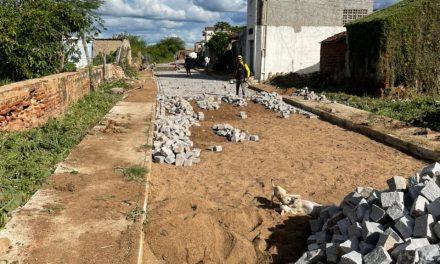 Obra em andamento no município de Ouro Velho