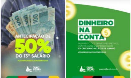 Prefeitura de Ouro Velho antecipa pagamento dos servidores e anuncia antecipação do 13° salário