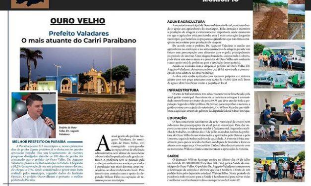 'Gestor mais atuante do Cariri paraibano': prefeito de Ouro Velho é destaque em revista de circulação estadual