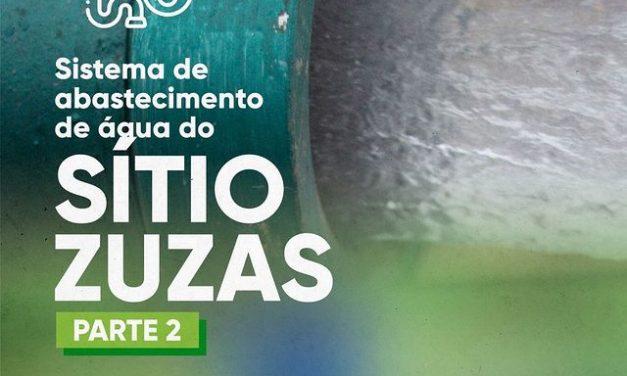 Nova adutora vai beneficiar mais de 30 famílias da comunidade dos Zuzas