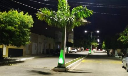 Ouro Velho: gestão Augusto Valadares implanta nova iluminação de LED na Avenida Jacinto Dantas