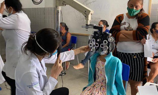 Secretaria de Saúde de Ouro Velho realiza mutirão de exames oftalmológicos e atende mais de 100 pessoas