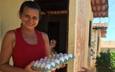 Prefeitura de Ouro Velho realiza entrega de bandejas de ovos a população